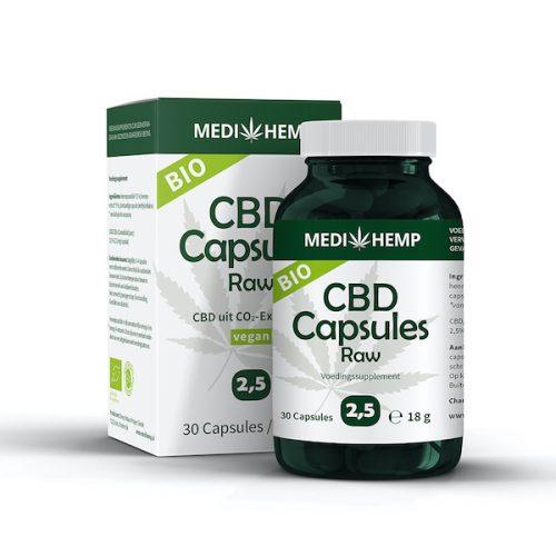 MediHemp CBD-capsules Raw 2,5%