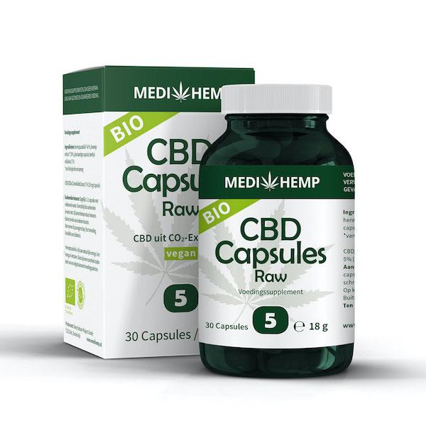MediHemp CBD-capsules Raw 5%