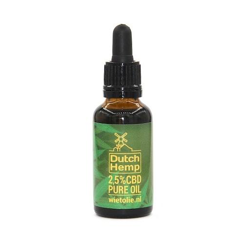 DutchHemp CBD-olie Puur 2,5% (30ml)