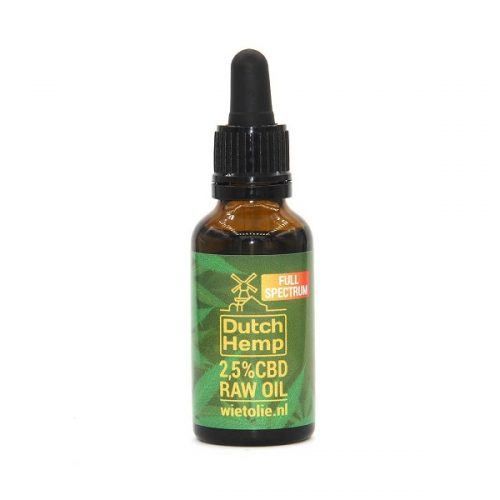DutchHemp CBD-olie Raw 2,5% (30ml)