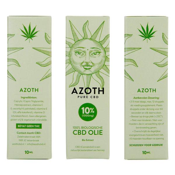 Azoth CBD-olie Puur 10%