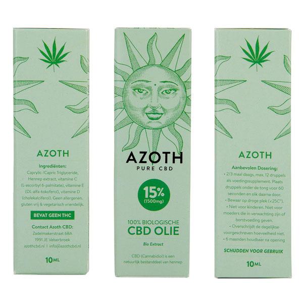 Azoth CBD-olie Puur 15%
