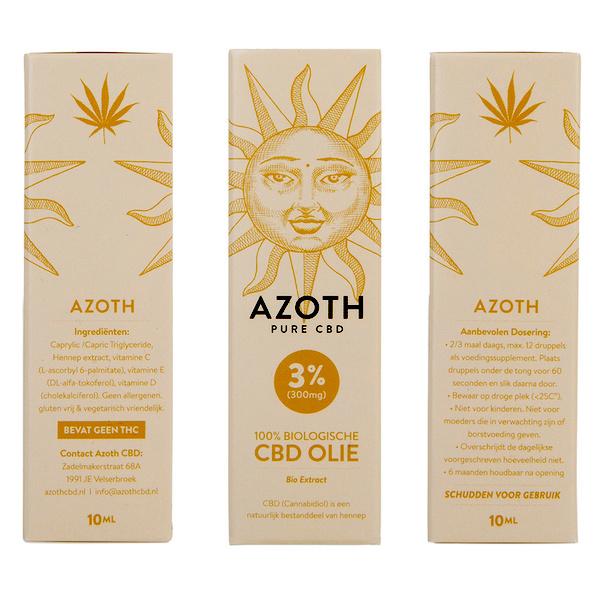 Azoth CBD-olie Puur 3%