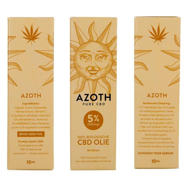 Azoth CBD-olie Puur 5%