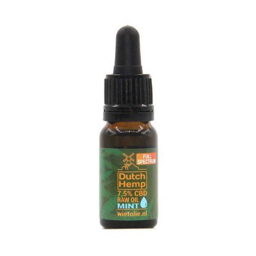 DutchHemp CBD-olie RAW 7,5% Mint (10ml)
